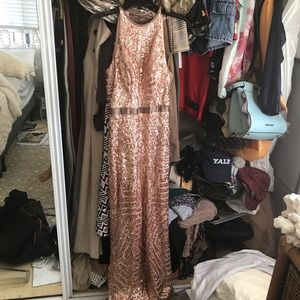 Sequin prom gown